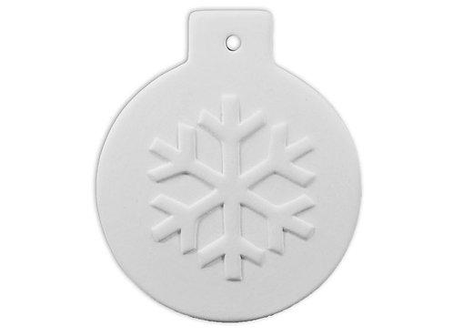 Flat Ball Snowflake Ornament