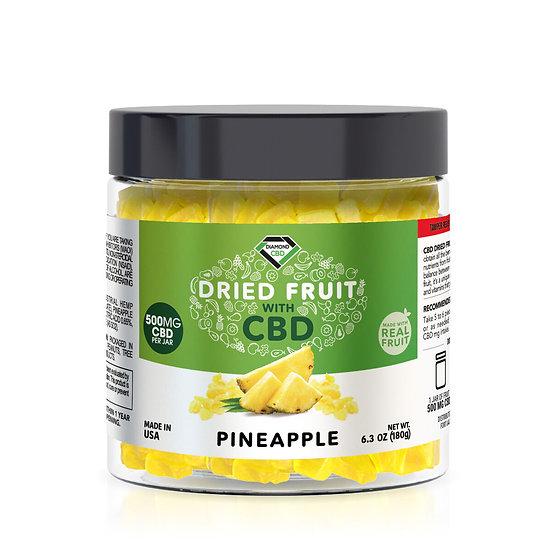 CBD Dried Fruit -Pineapple - 500mg