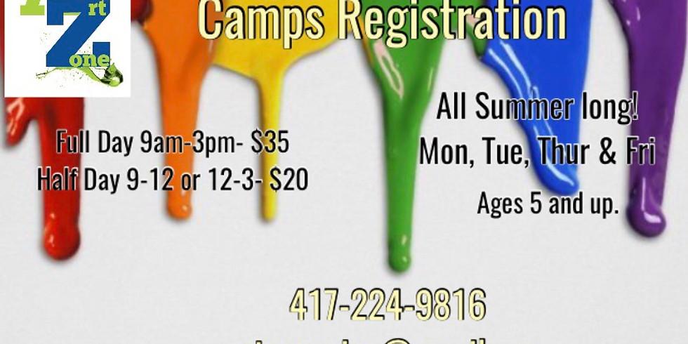 July Art Camp Registration