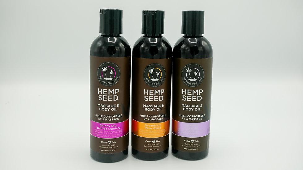 8OZ Hemp Seed Massage Oil