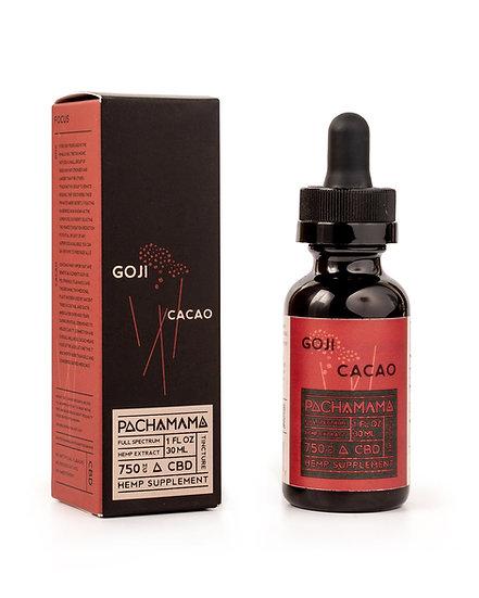 Pachamama CBD Tincture Goji Cacao - 750mg