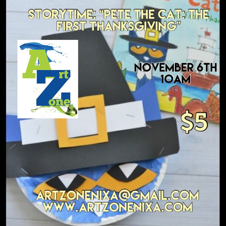 """StoryTime: """"Pete the Cats First Thanksgiving"""""""