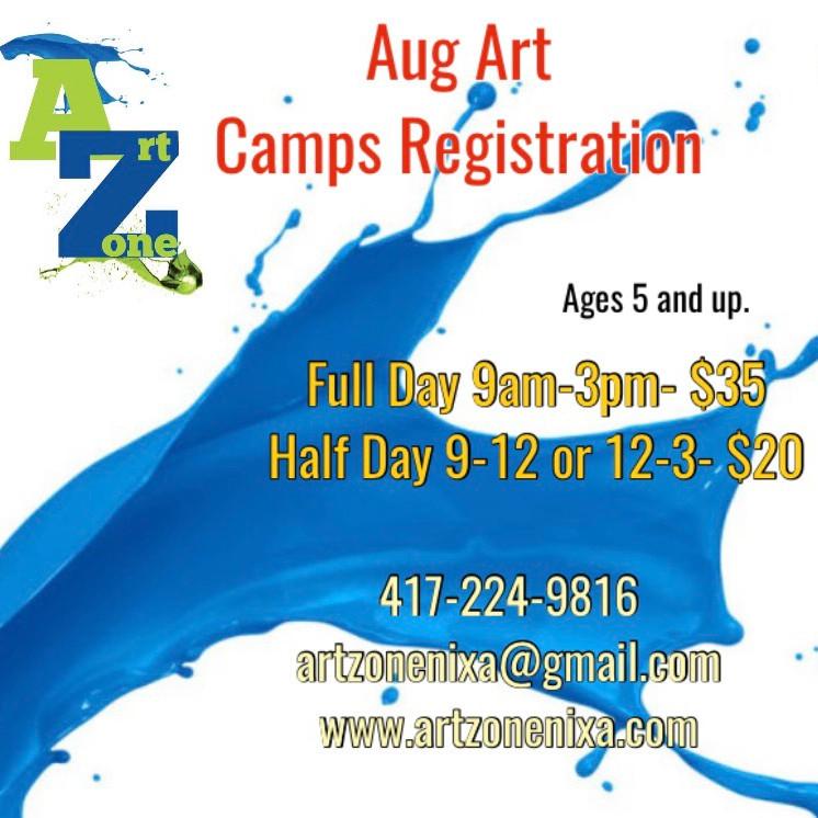 August Art Camps Registration
