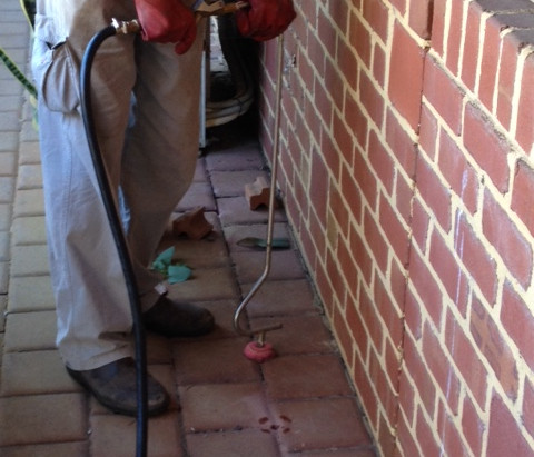 Termite barrier treatment