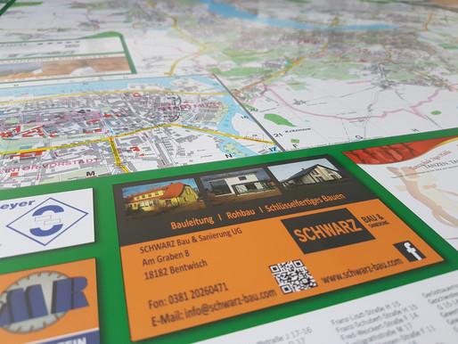 Unsere Anzeige auf dem Stadtplan von Rostock