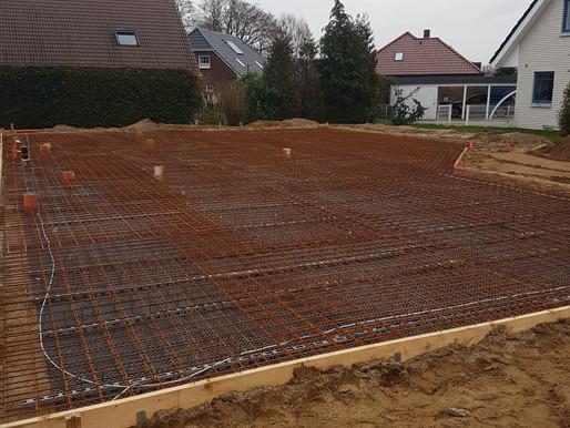 Bodenplatte in Elmenhorst