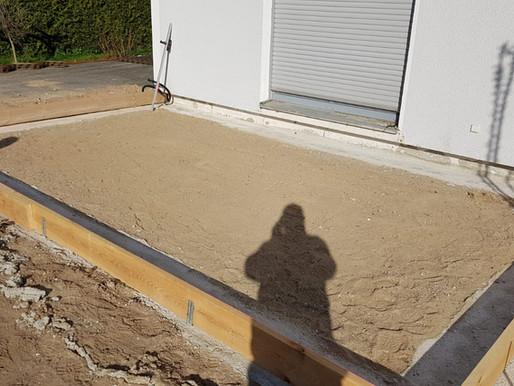 Bodenplatte für einen Anbau in Fahrenholz