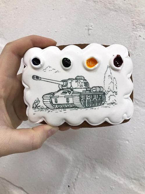 """Пряничная раскраска """"Танк Т-34"""""""