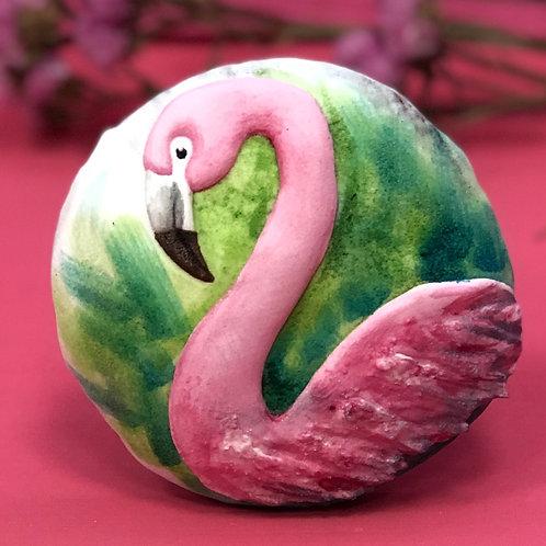 Фламинго - Большой расписной пряник
