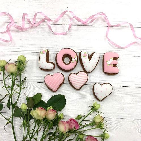 "Набор ""LOVE и 4 сердца"""