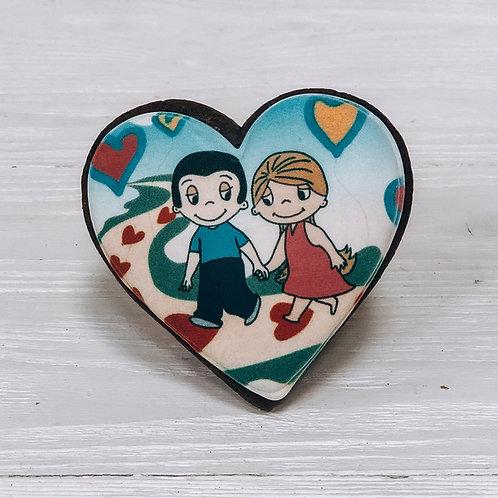 """Пряник сердце """"Love is..."""""""