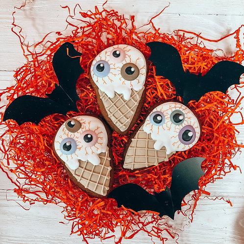 """Пряник """"Мороженое с глазами"""""""