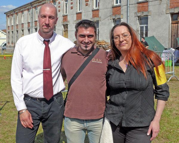 David, Massimiliano e Severine