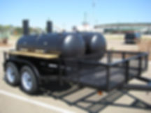 Two BBQ Pits on one trailer