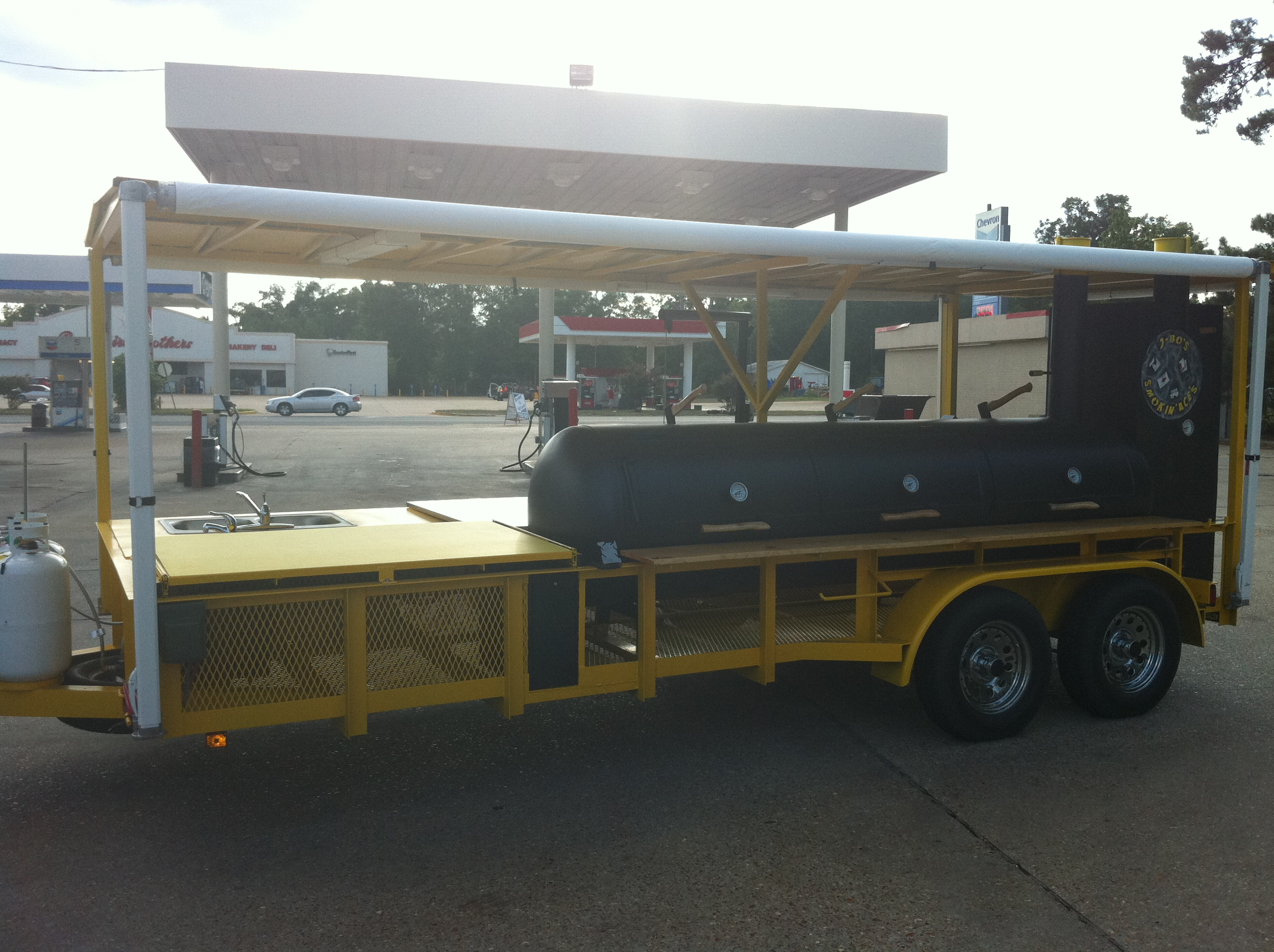 BBQ Bus Custom Smoker Trailer