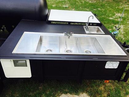 Custom Sink with Drain Boards