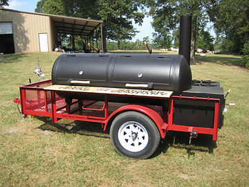 Custom BBQ Trailer Red