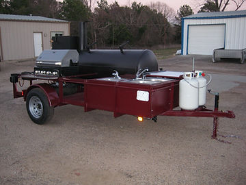 Aggie Red BBQ pull behind trailer