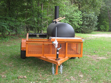 Custom BBQ Pit on trailer