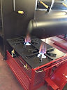 Custom star burners on BBQ Trailer