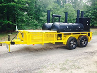 Double Barrel Special BBQ Trailer