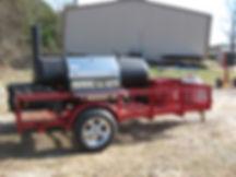 Gas grill on custom trailer