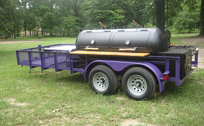 horned frog 1 fan wanted this smoker trailer to be tcu purple