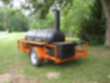Cowboy BBQ Smoker on Trailer