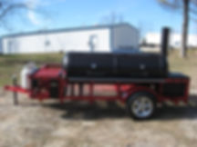 Custom BBQ Trailer with gas grill