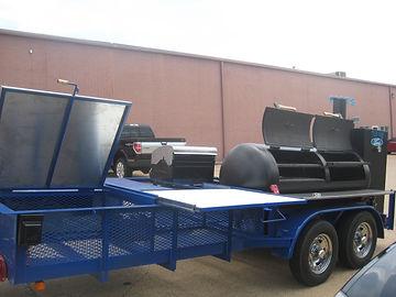 reverse smoker on trailer