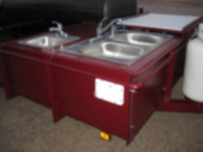 sinks with water on custom trailer