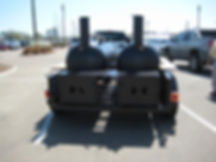 Back of Double BBQ Trailer