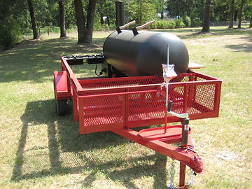 Pull behind BBQ trailer