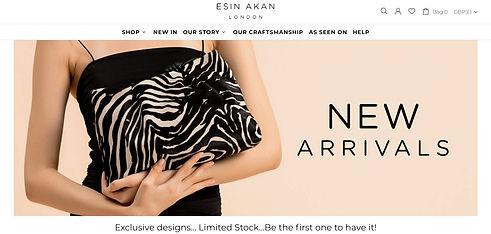 Esin Akan Shopify Website
