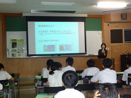 宮崎西高附属中学校を訪問しました