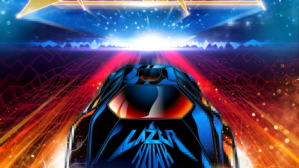 "Lazerhawk: Dreamrider Deluxe ""Galaxy"" Style 2LP Gatefold Vinyl"