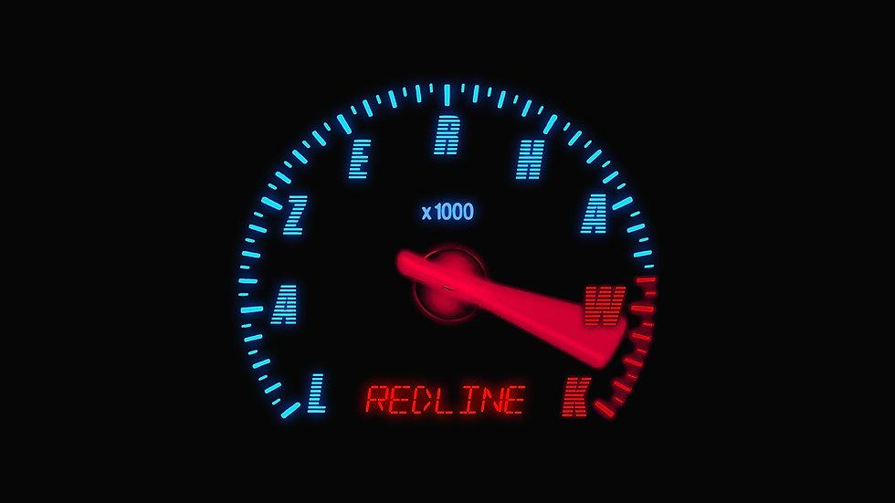 Lazerhawk: Redline Red/Blue 2LP Gatefold Vinyl