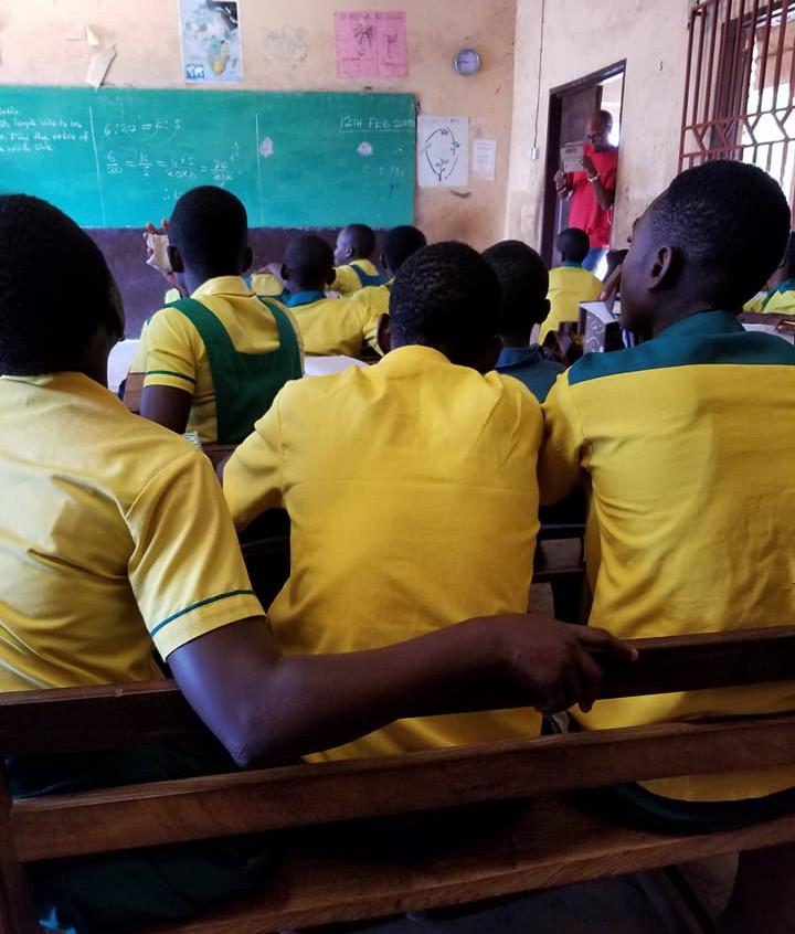 Ghana boys in classroom