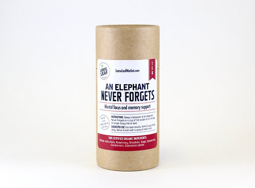 An Elephant Never Forgets - Canister, makes approx. 20 cups
