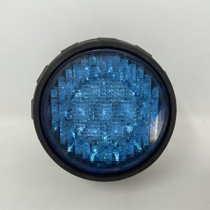 """led flashing 3"""" round blue"""