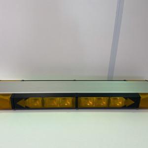 Emergency vehicle amber beacon with traffic advisor