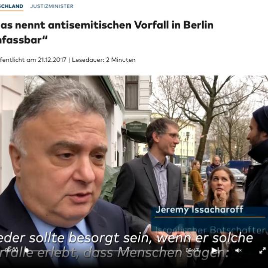 Maas nennt antisemitischen Vorfall in