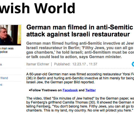 German man filmed in anti-Semitic atta