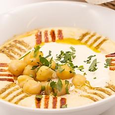 Hummus mit Tahini und Kichererbsen klein