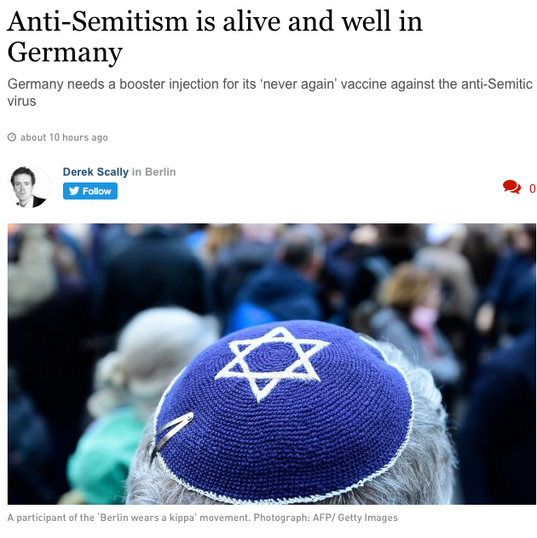 Anti-Semitism is alive and well in Ge