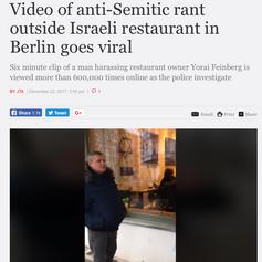 Video of anti-Semitic rant outside Isr