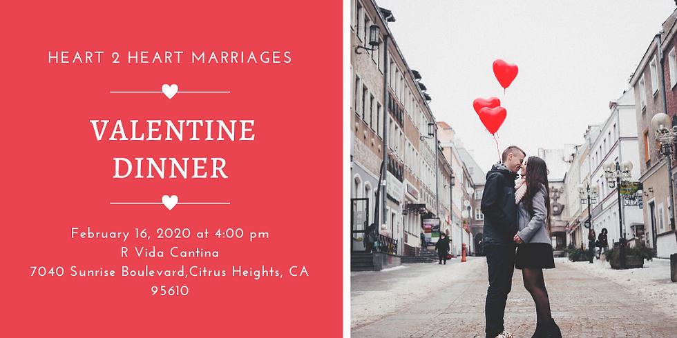 Heart 2 Heart Marriages Valentine Dinner