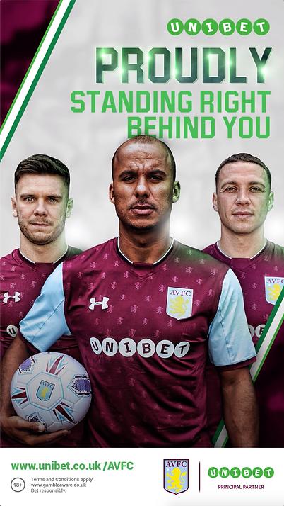Aston Villa & Unibet | Campaign Poster