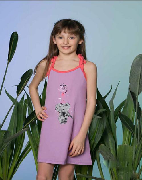 5b2a3986e9 Camison de nena en jersey de algodón.
