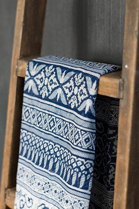 Blue Aztec Pattern Scarf